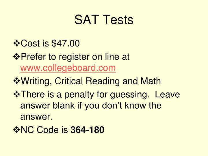 Sat tests