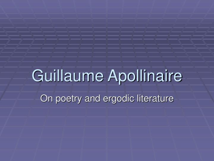 guillaume apollinaire n.