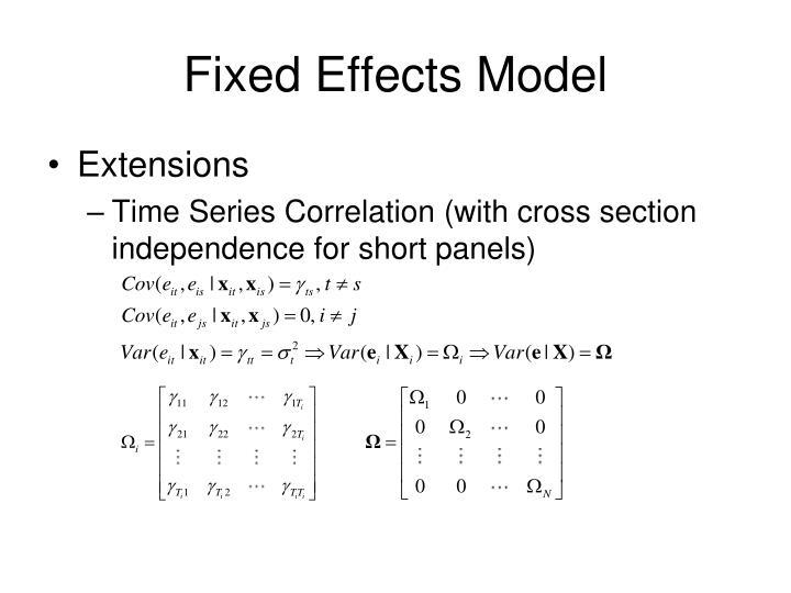 Fixed Effects Model