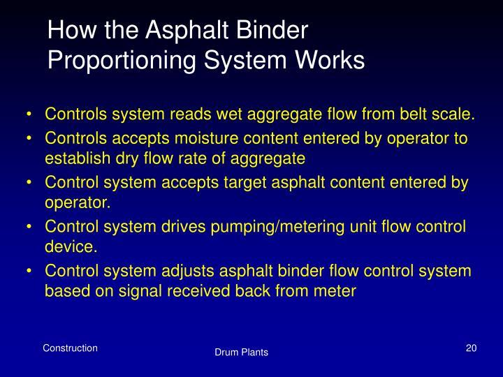 How the Asphalt Binder