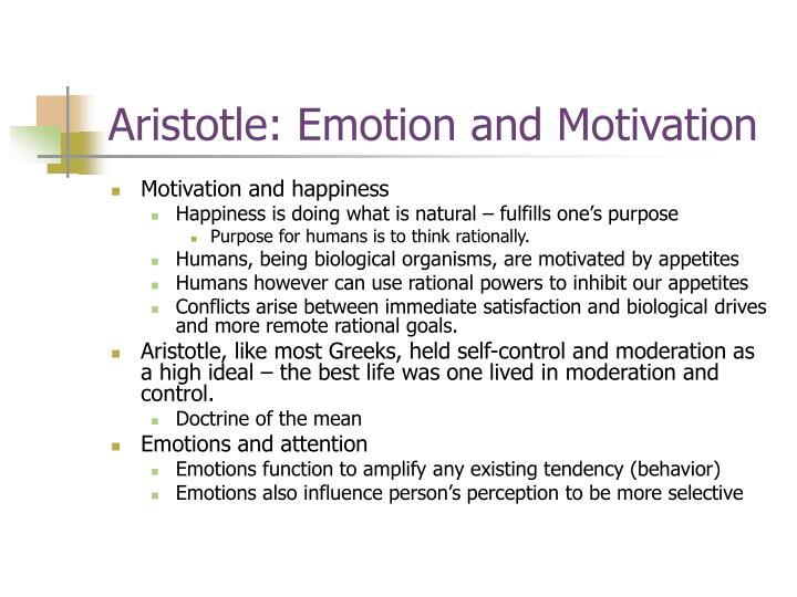 Aristotle: Emotion and Motivation