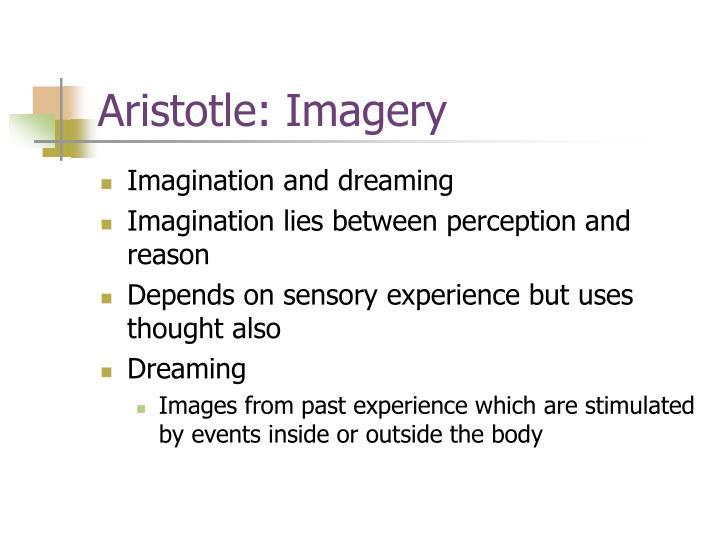 Aristotle: Imagery