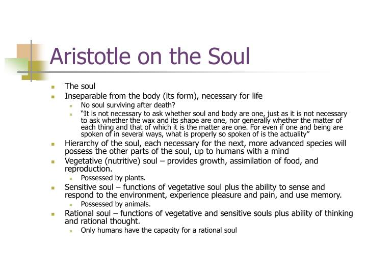 Aristotle on the Soul