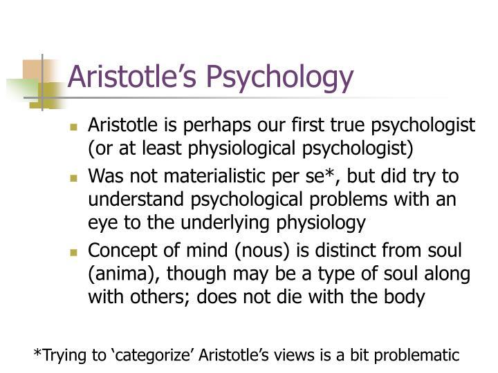 Aristotle's Psychology
