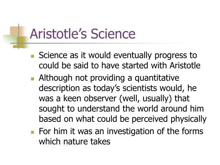 Aristotle's Science