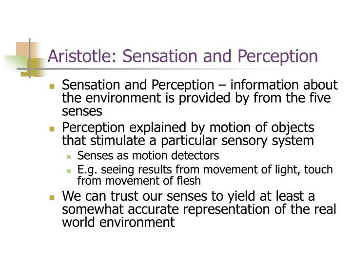 Aristotle: Sensation and Perception