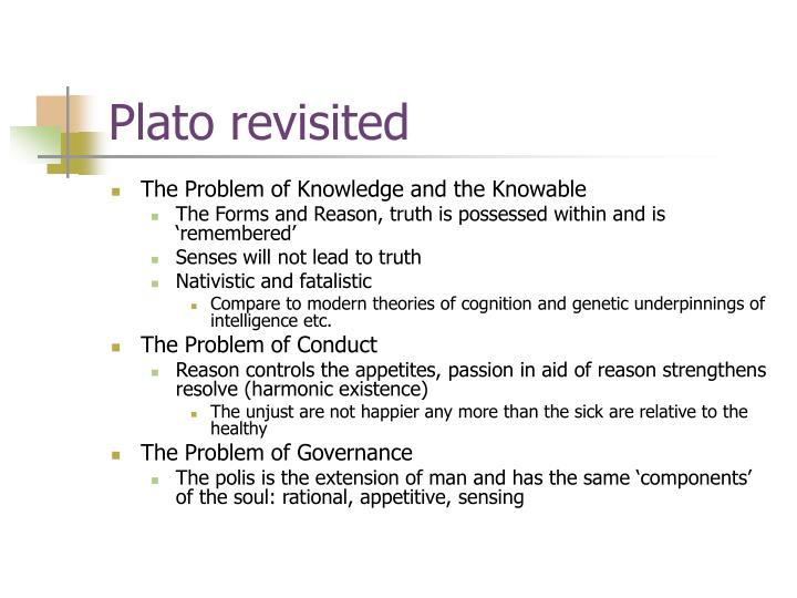 Plato revisited