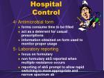 hospital control