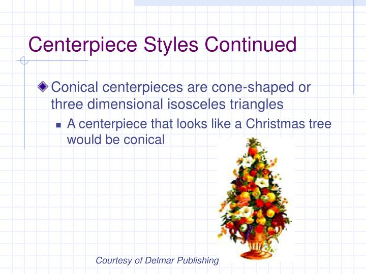Centerpiece Styles Continued