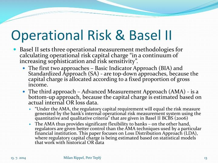 scenario analysis for basel ii operational Setting inputs for operational risk models  scenario analysis  which looked at the implementation of basel ii operational risk requirements this group .