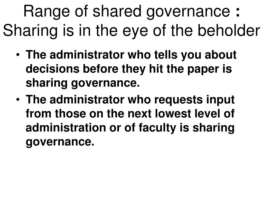 PPT - Shared Governance, The Faculty Role: AAUP Annual ...