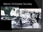 march 23 easter sunday
