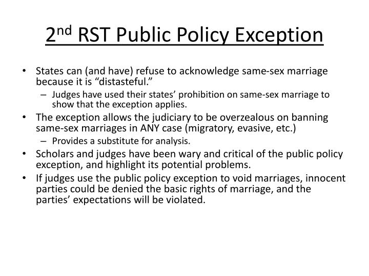 2 nd rst public policy exception