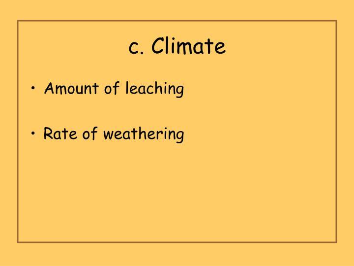 c. Climate