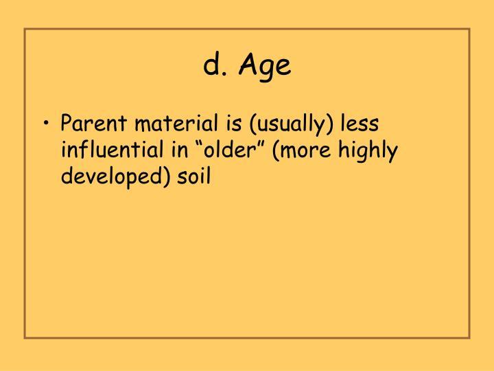 d. Age