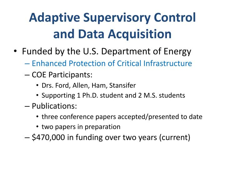 Adaptive Supervisory Control and Data Acquisition