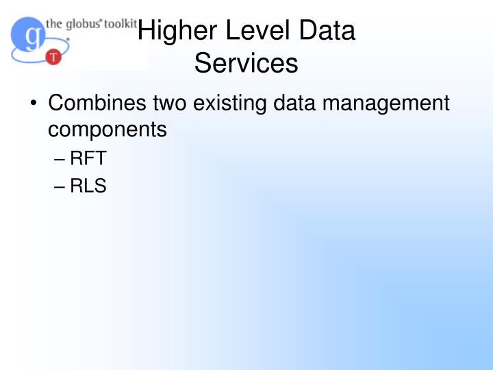 Higher Level Data