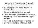 what is a computer game