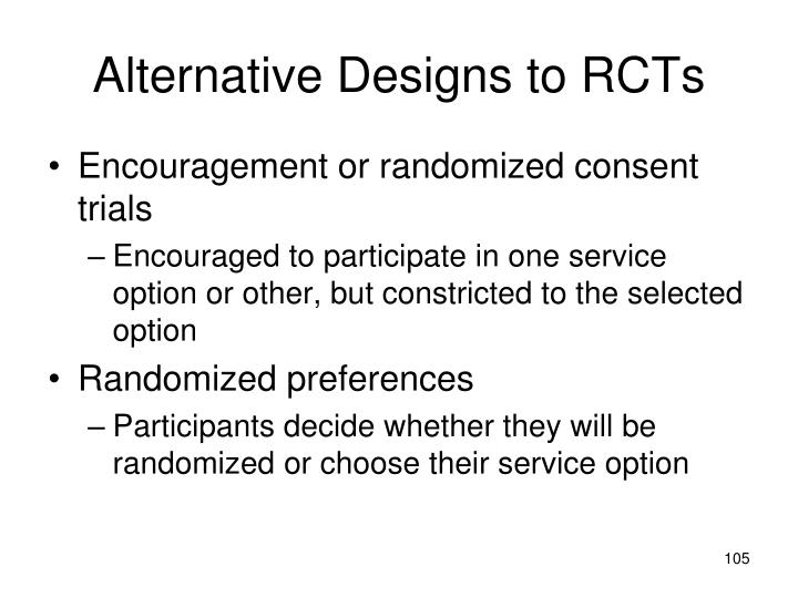 Alternative Designs to RCTs