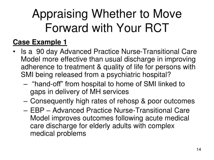 Appraising Whether to Move Forward with Your RCT