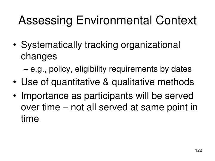 Assessing Environmental Context