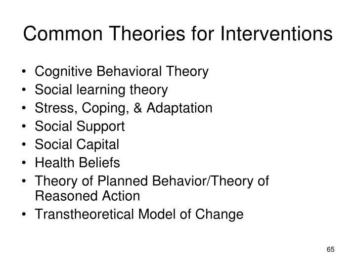 Common Theories for Interventions