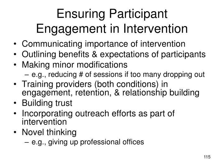 Ensuring Participant