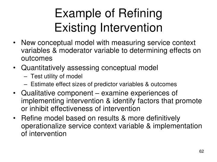 Example of Refining