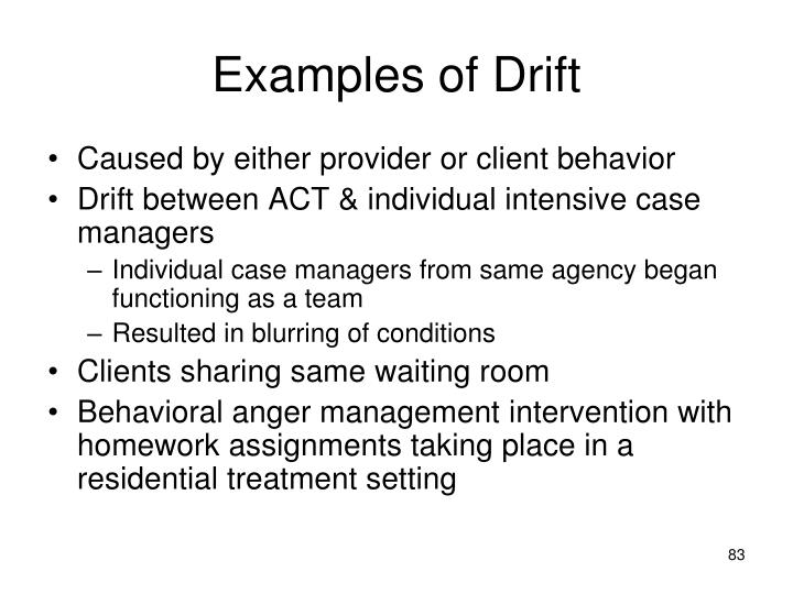 Examples of Drift