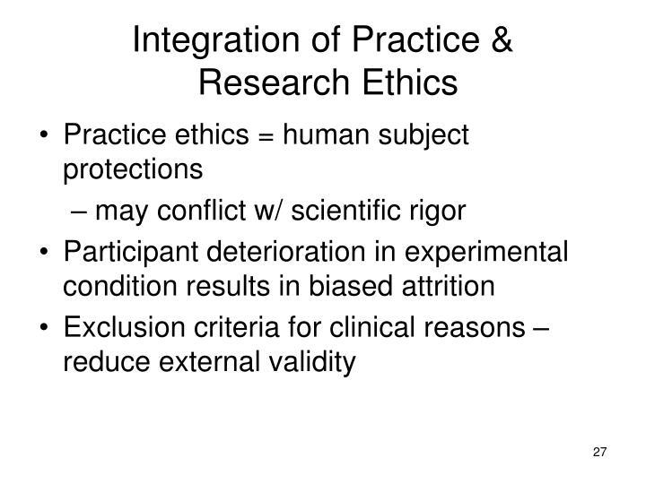 Integration of Practice &