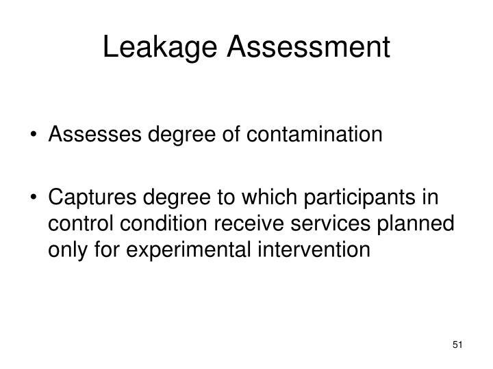 Leakage Assessment