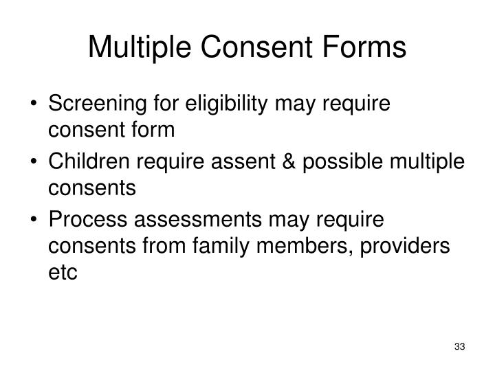 Multiple Consent Forms