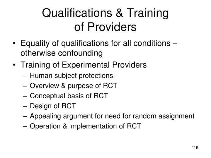 Qualifications & Training