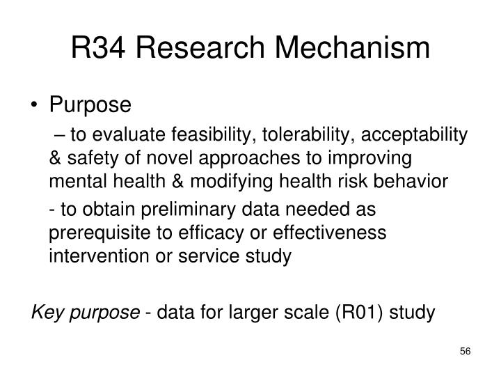 R34 Research Mechanism