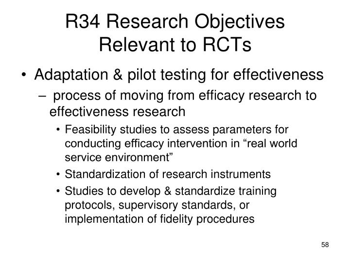 R34 Research Objectives