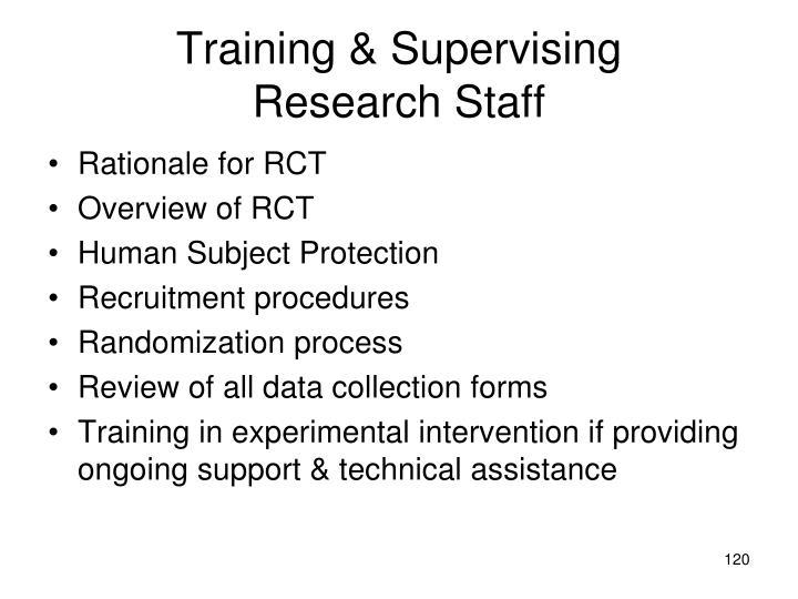 Training & Supervising