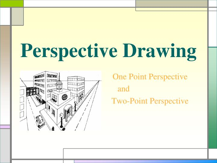 perspective drawing n.