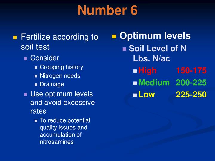 Fertilize according to soil test