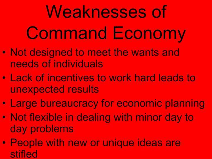 weaknesses of command economy