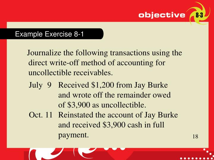 Example Exercise 8-1