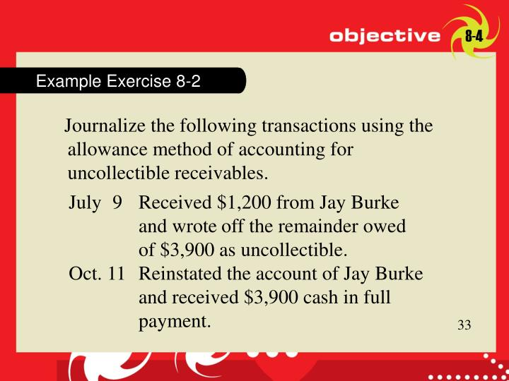Example Exercise 8-2