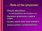 role of the physician1