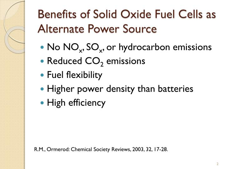 Solid Oxide Fuel Cell Ppt | CINEMAS 93