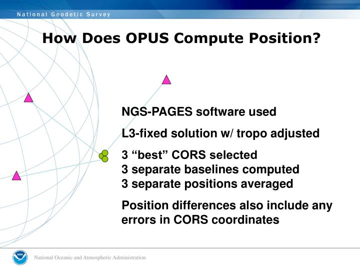 How Does OPUS Compute Position?