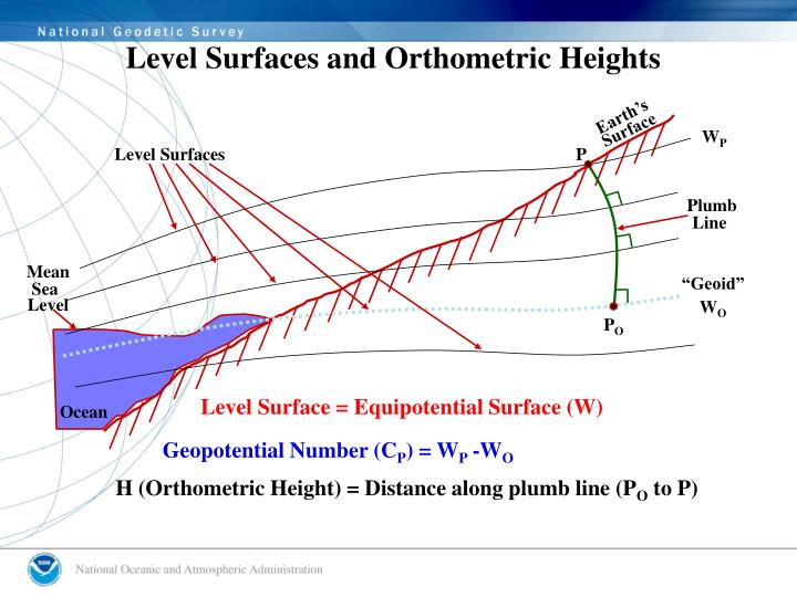Level Surfaces and Orthometric Heights