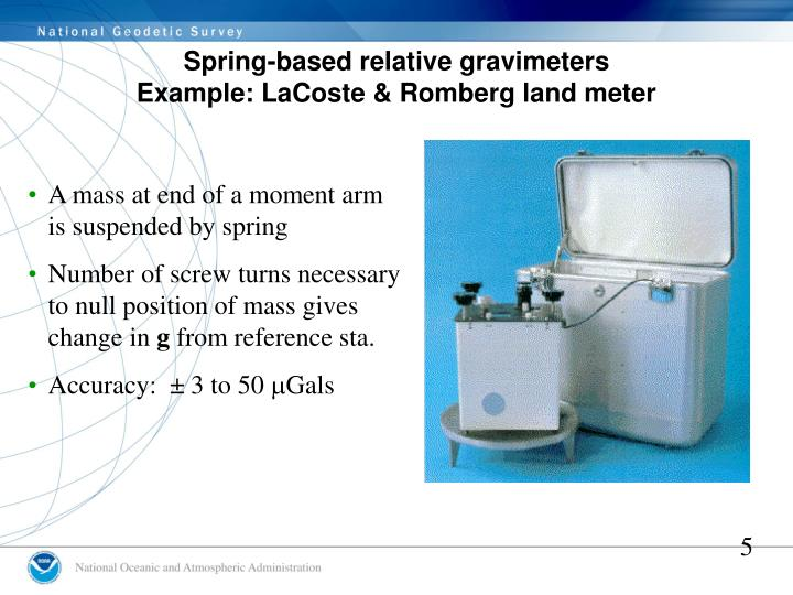 Spring-based relative gravimeters