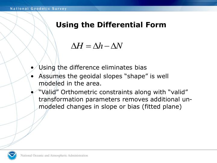 Using the Differential Form