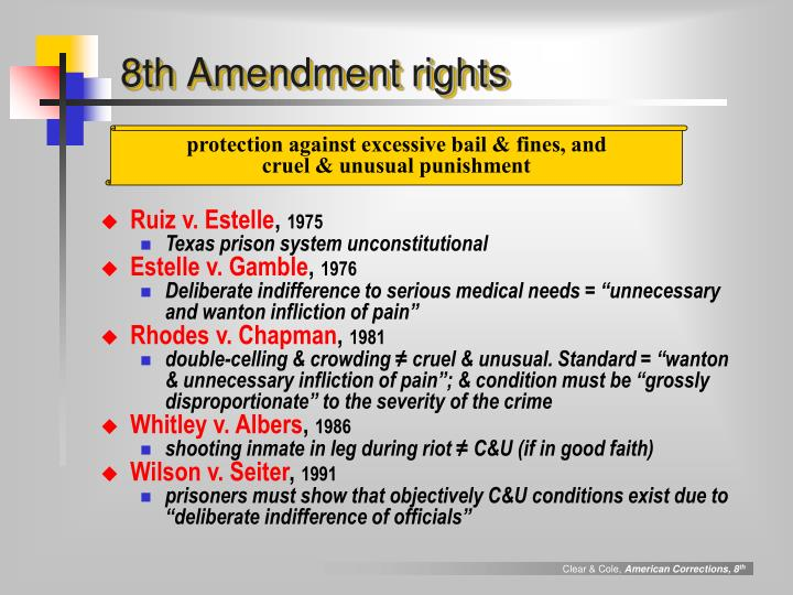 8th Amendment rights
