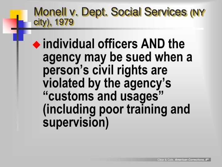 Monell v. Dept. Social Services