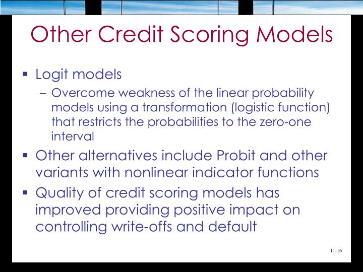 Other Credit Scoring Models